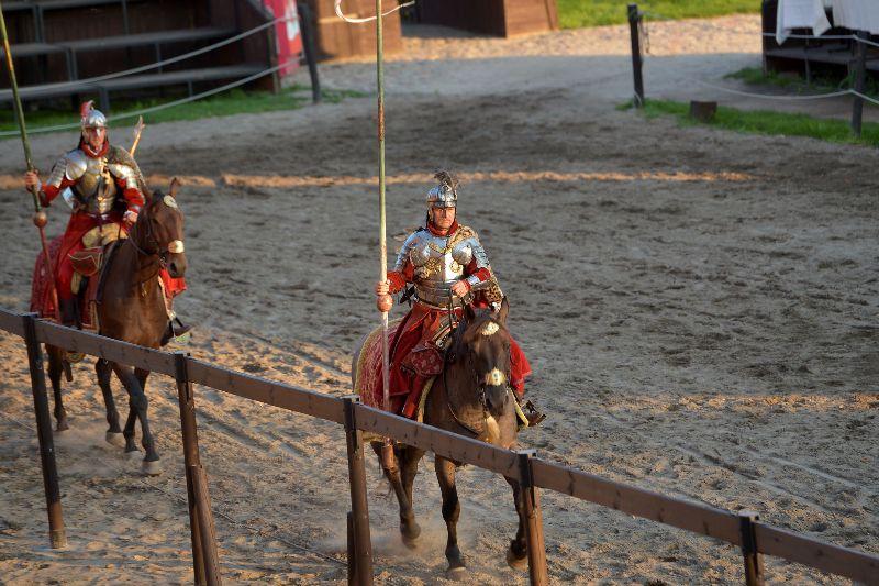 Turniej rycerski na zamku w Gniewie