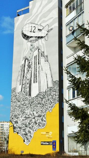 Murale Mariusza Warasa, Zaspa ul. Pilotów 12. Wycieczka Gdańsk – Hit The Road Travel