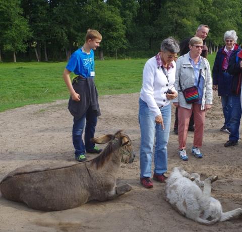 Seniorzy zVästerhaninge wParku Dzikich Zwierząt wKadzidłowie