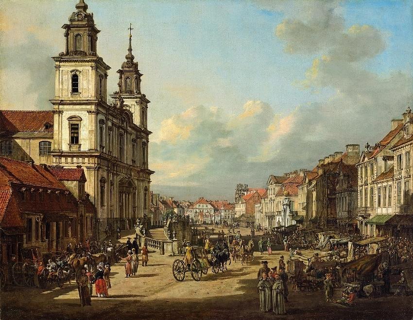 Bernardo Bellotto - Krakowskie Przedmieście wWarszawie
