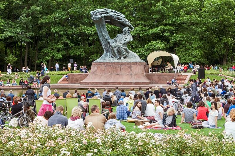 Pomnik Chopina wParku Łazienkowskim. Wycieczka doWarszawy – Hit The Road Travel